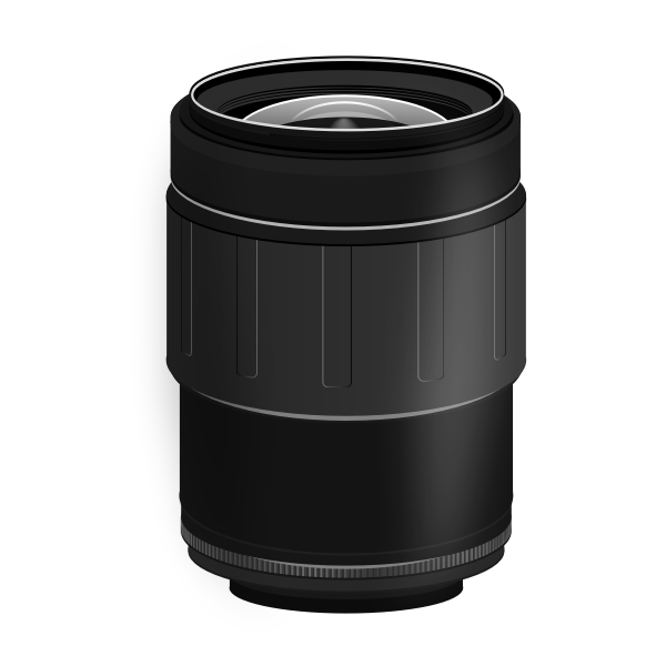 SLR camera lens 28-80mm vector image