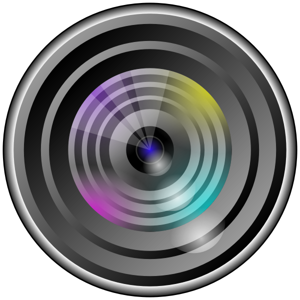 Camera lens with light effect