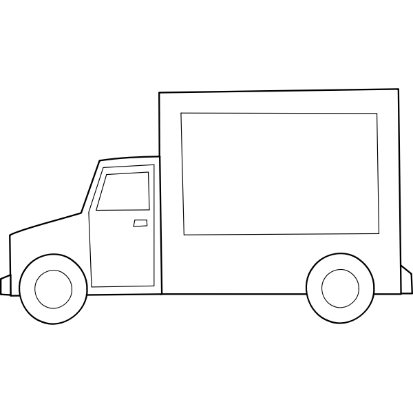 Truck vector graphics