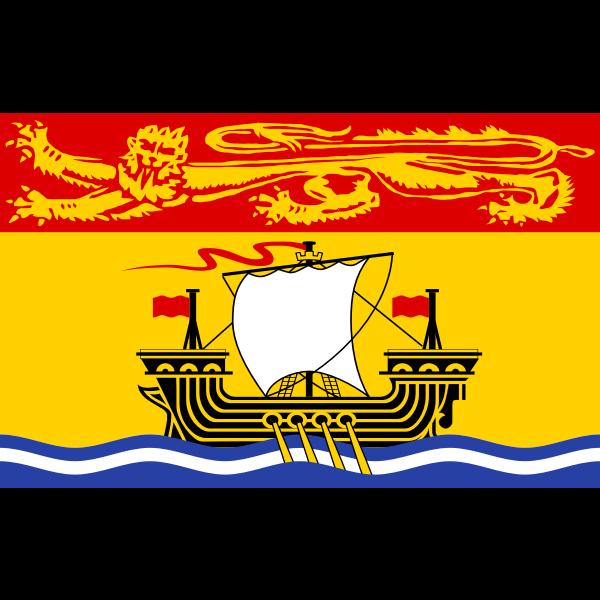 New Brunswick flag vector drawing