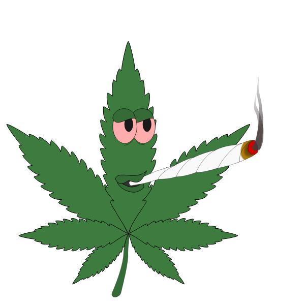 Animated Marijuana Leaf