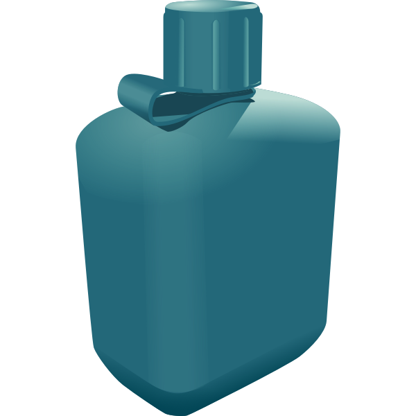 Vector clip art of canister