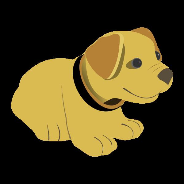 Cute Yellow Dog Free Svg