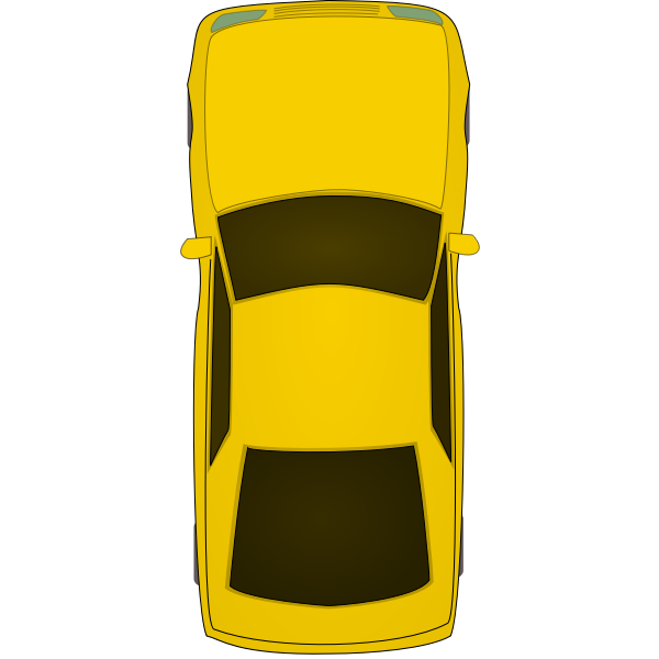 Top view car vector