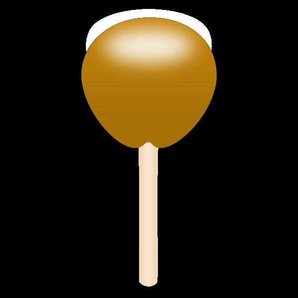 Caramel apple vector drawing