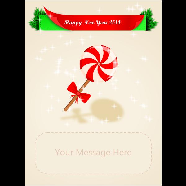 New Year's wish card
