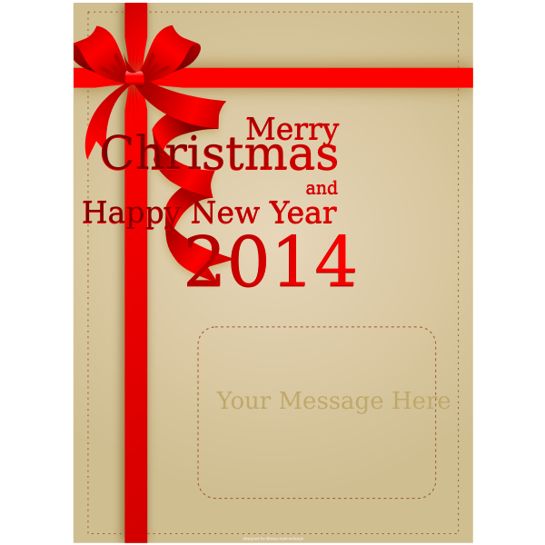 Marry Christmas and Happy New Year red themed card vector image