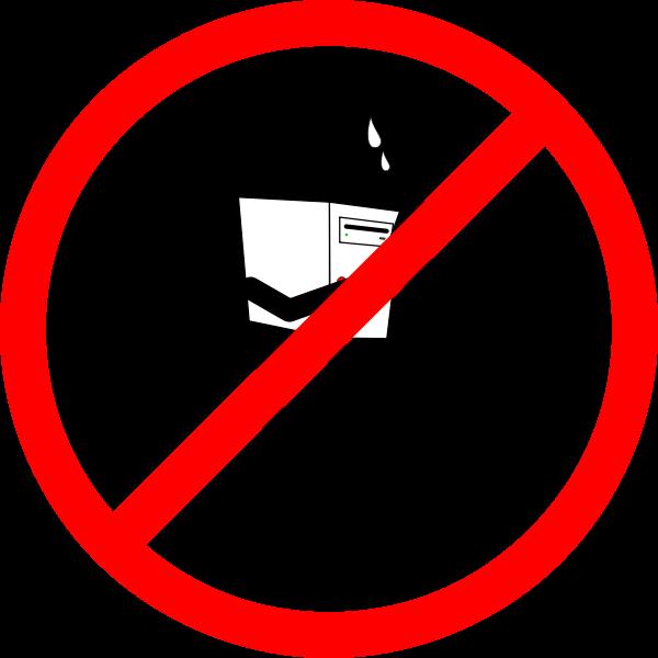 No computer sign vector image