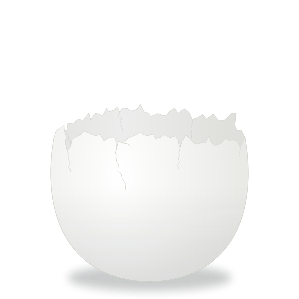 Cracked Egg vector clip art