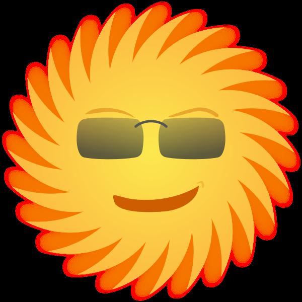 Mr. Sun vector image