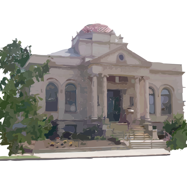 Carnegie Library Building vector clip art