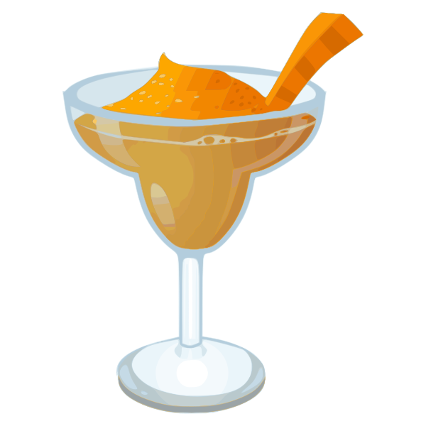 Carrot Margarita cocktail vector graphics