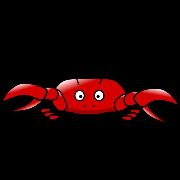 Red crab cartoon style