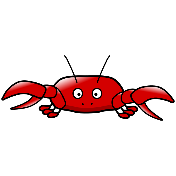Red crab cartoon style