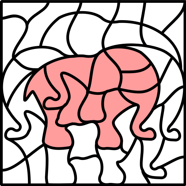 Elephant in coloring book