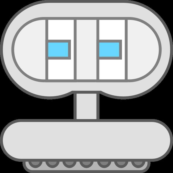 Robot icon cartoon style