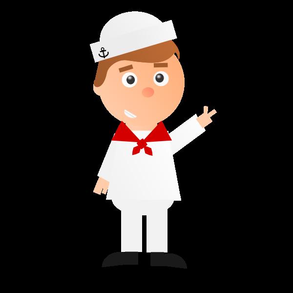 Cartoon sailor