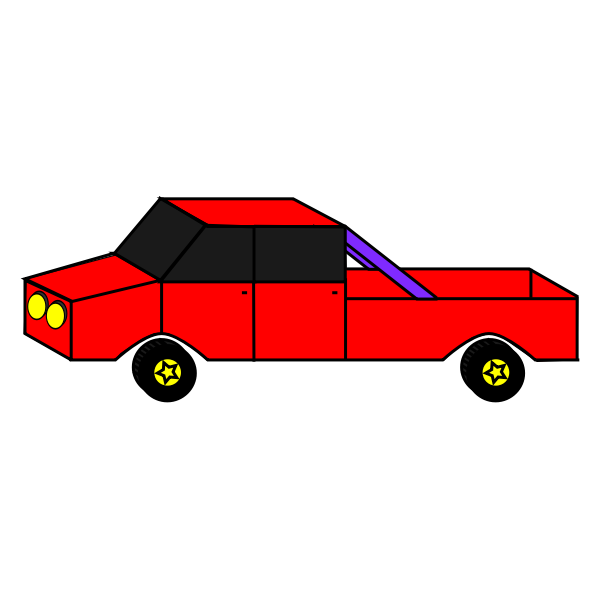 Cartoon Car Vector Art