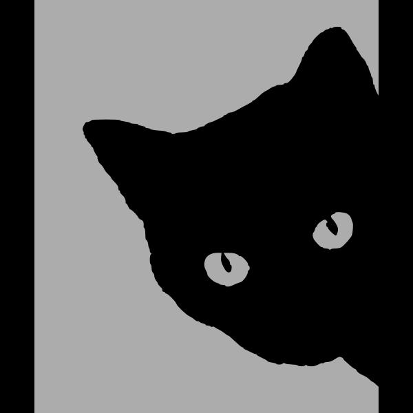 Cat's head silhouette
