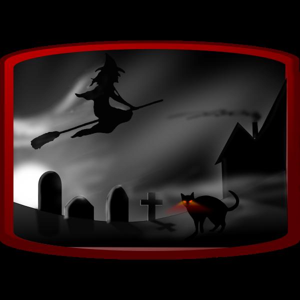 Dark spooky landscape vector image