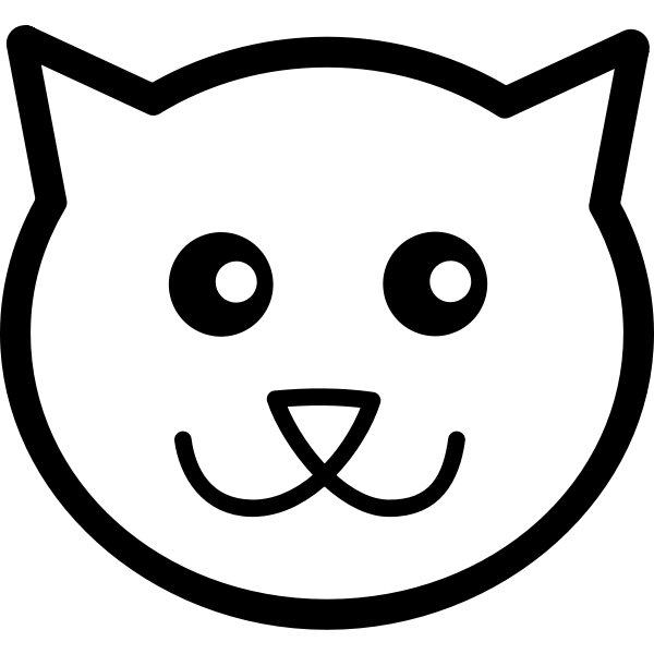 Cat face line art vector image