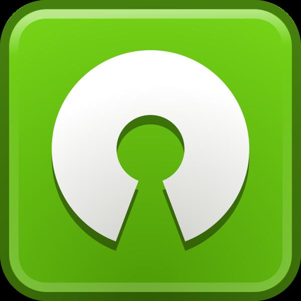 Vector clip art of open source computer icon