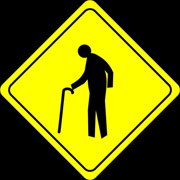 Old man crossing