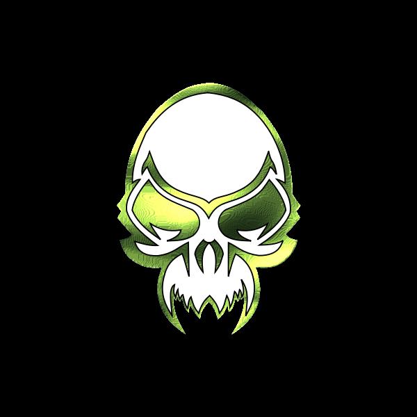 Metallic skull vector clip art