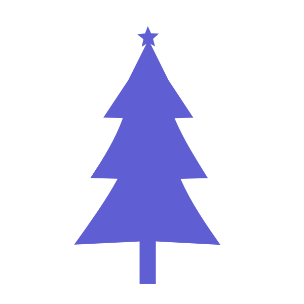 Christmas tree purple color