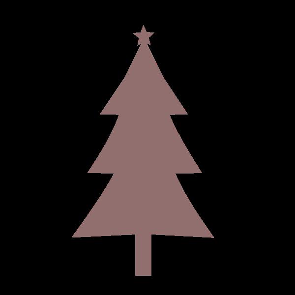 Christmas tree silhouette art