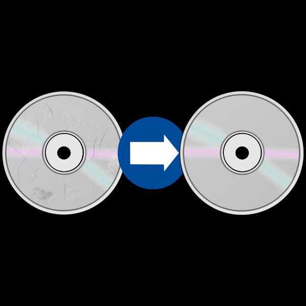 Damaged CD resurfacing sign vector image