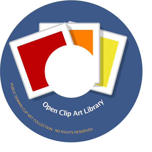 CD label for open clip art vector images