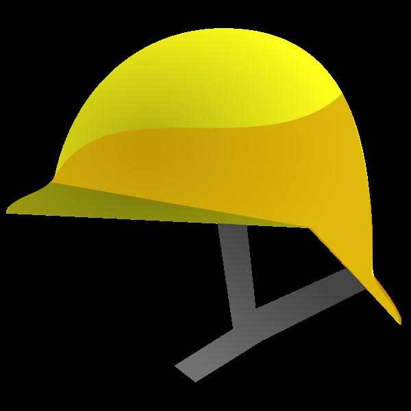 Vector graphics of yellow construction helmet icon
