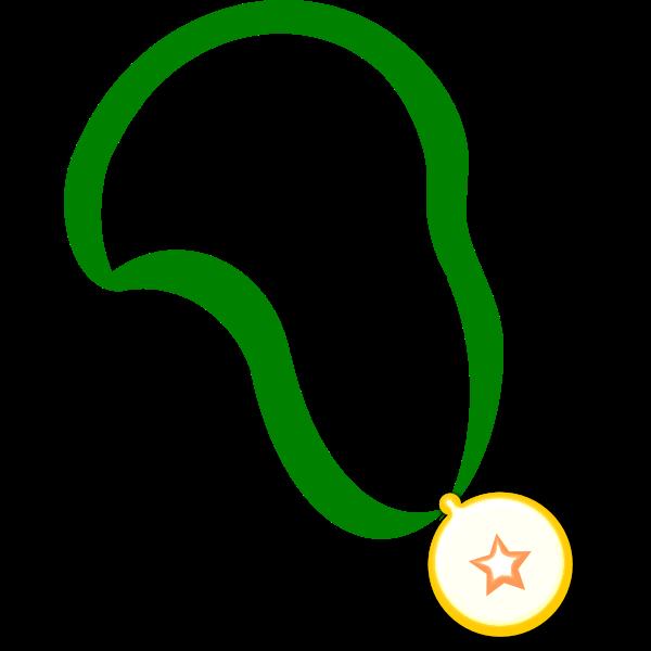 Simple medal on a band vector clip art