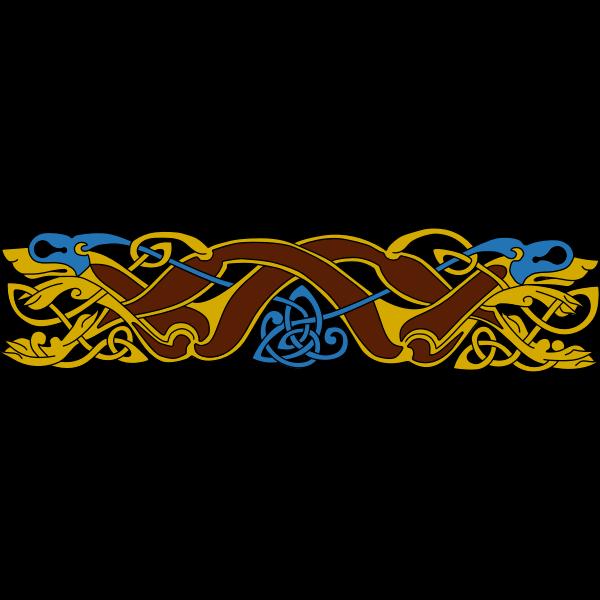 Celtic animal ornament vector illustration