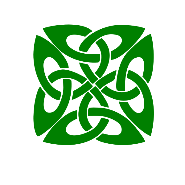 Green pattern decoration vector image