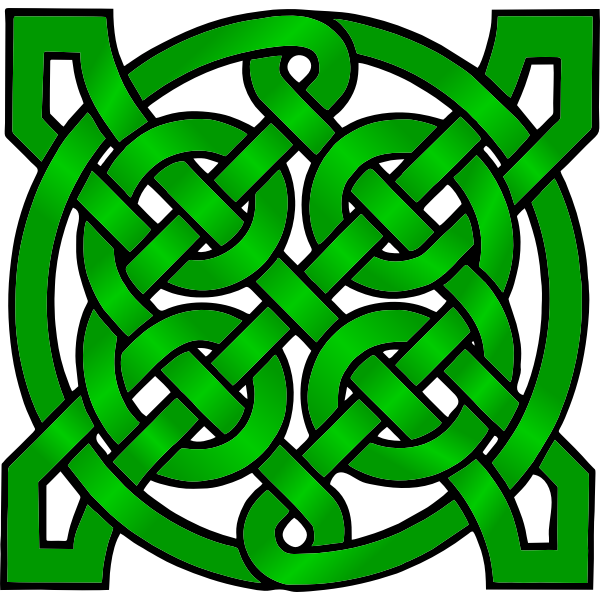 Dark green Celtic mandala vector clip art
