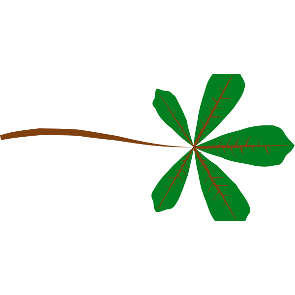Palmate Leaf (5 lobed)
