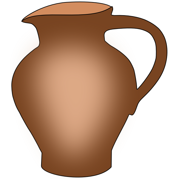 Simple ceramic pot
