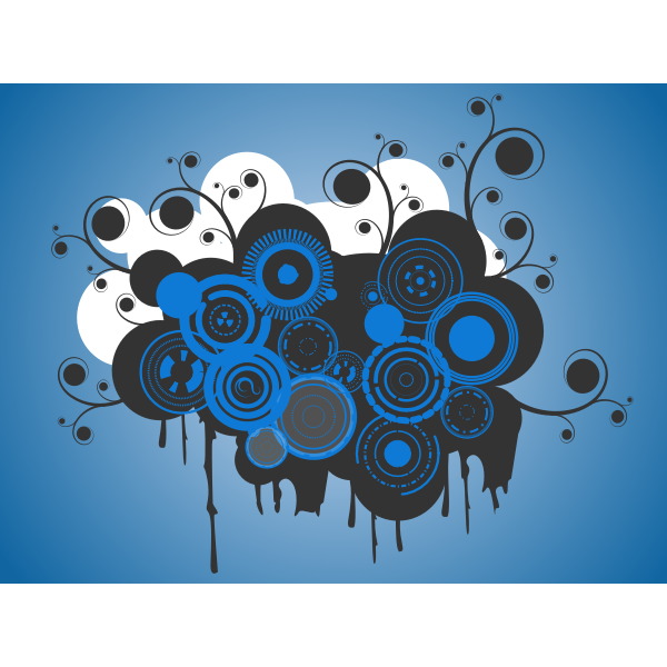 Abstract background with concentric circles