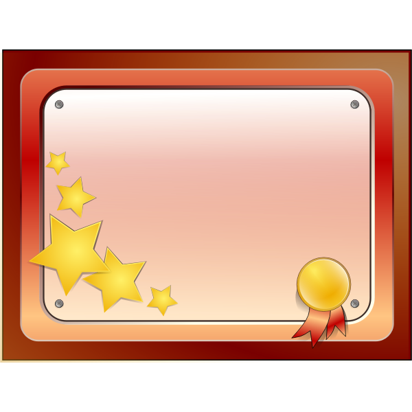 Vector illustration of bolted plaque