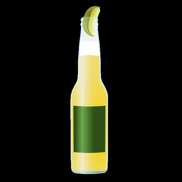 Light beer bottle vector image