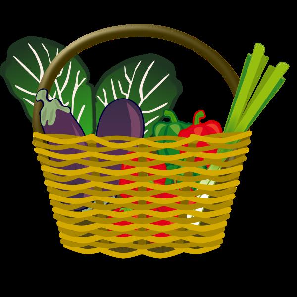 Shopping basket vector illustration