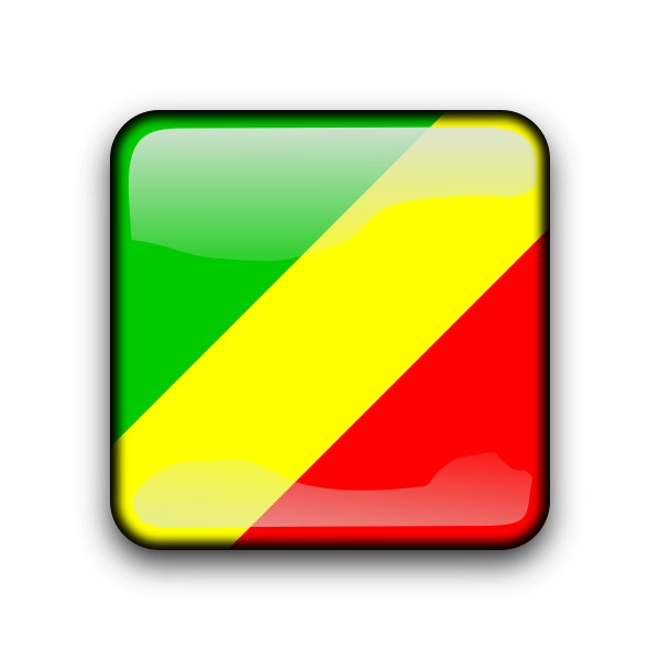 Congo vector flag button