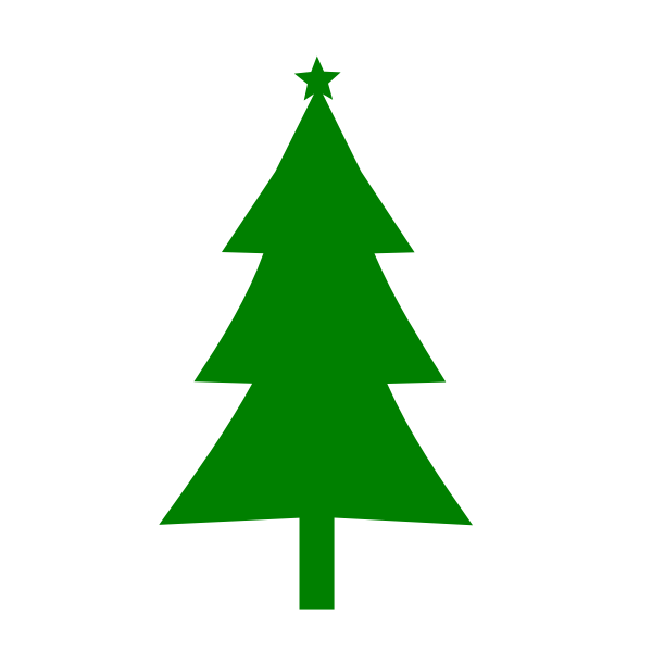 Christmas tree in green color