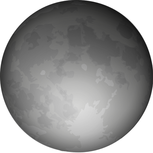 Halloween full Moon vector clip art