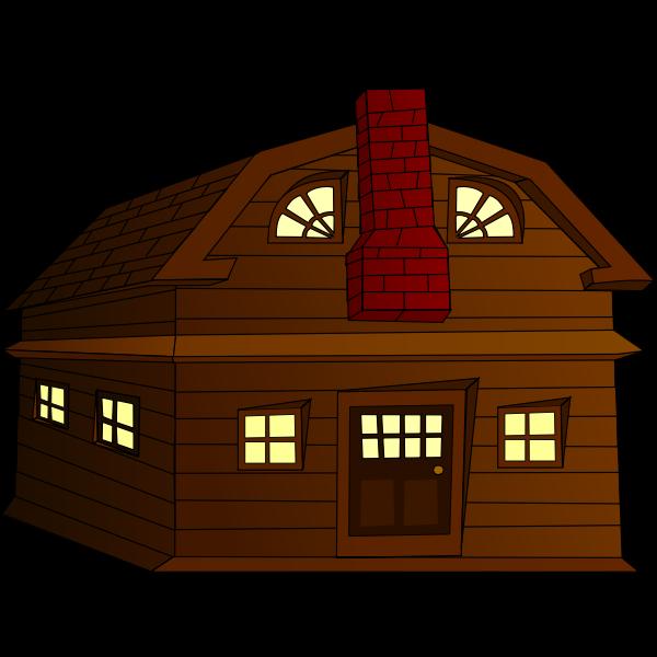 Halloween horror house vector clip art