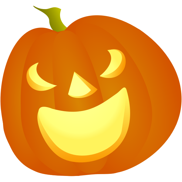 Laughing Halloween pumpkin vector illustration