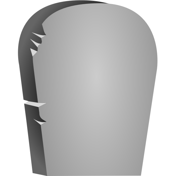Halloween headstone vector image