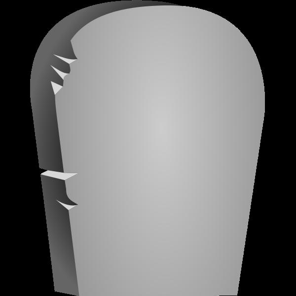 Halloween headstone vector image